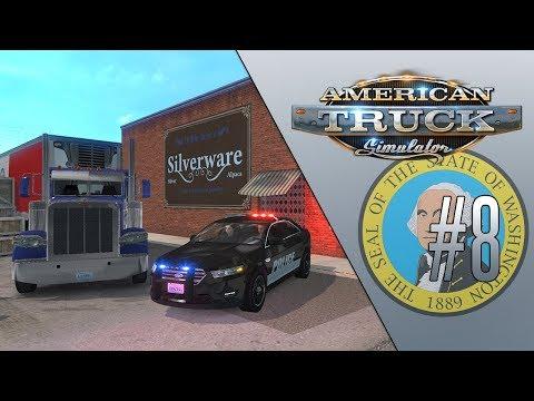 РАЗБОРКИ С НЕЛЕГАЛАМИ - American Truck Simulator (1.35.2.11s) [#8]