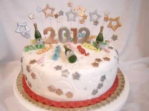 Happy New Year   Fondant Cake   2012   YouTube