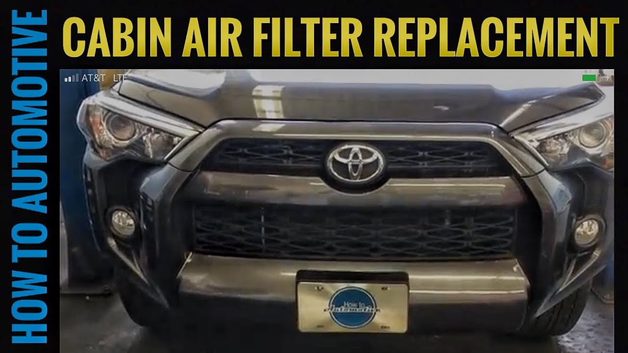 How to replace the cabin air filter on a 2015 toyota 4runner