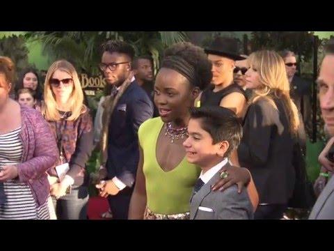 The Jungle Book World Premiere Red Carpet - Lupita Nyong'o, Neel Sethi, Ben Kingsley
