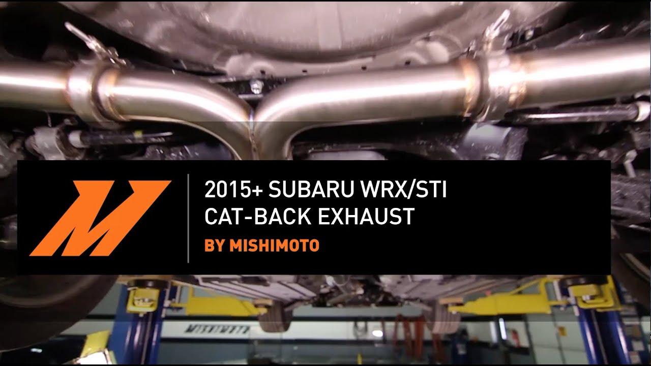 cat back exhaust for the subaru wrx sti 2015 installation video