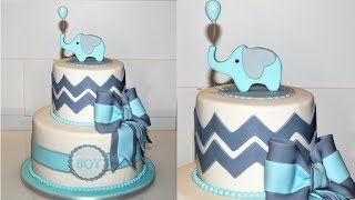 Cake decorating tutorial | how to make a BABY SHOWER CAKE | Sugarella Sweets