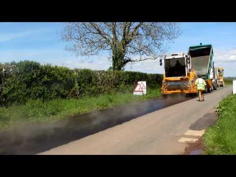 Road Surface Dressing - Application of Bitumen Binder - Pembrokeshire
