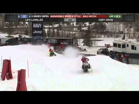 Generate Levi Lavallee Wins Gold in Snowmobile Speed and Style X Games Aspen 2013 Images