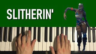 HOW TO PLAY - FORTNITE Dance - Slitherin' (Piano Tutorial Lesson)