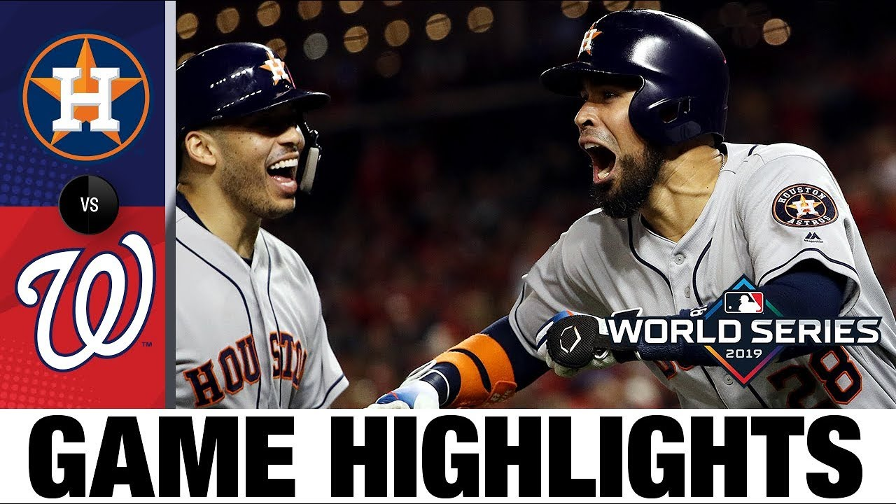 Download Alex Bregman leads 8-1 win in Game 4 to even World Series | Astros-Nationals MLB Highlights