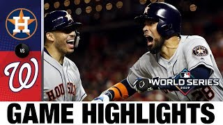 Alex Bregman leads 8-1 win in Game 4 to even World Series | Astros-Nationals MLB Highlights