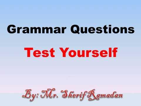 Grammar Exercises for grade 12   Test yourself   تدريبات قواعد لغة إنجليزية   أختبر نفسك