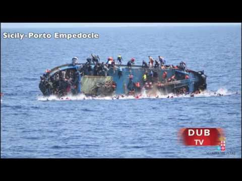 Libya Migrant Ship with 500 migrants capsizes near Sicily !