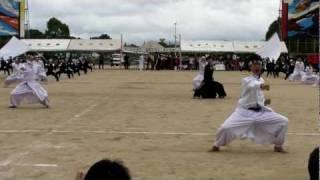 池田学園(鹿児島)第21回体育祭 白軍応援団! 20110612