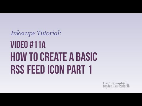 Video #11a - How to create a basic RSS Feed Icon Part 1 - Inkscape Tutorial