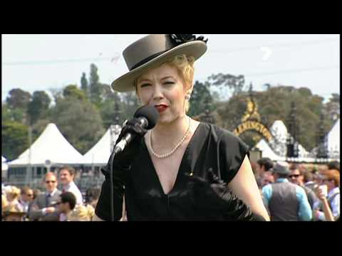 Paris Wells performs Feeling Good at Oaks Day Melbourne