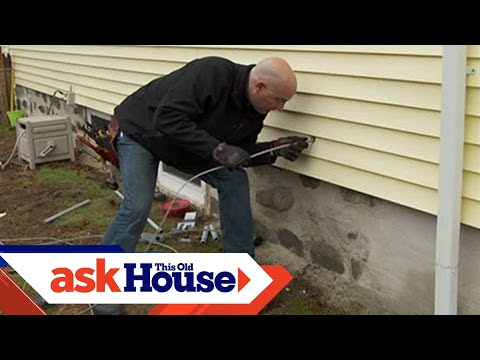 how to run underground wiring to a garage this old house youtube rh youtube com passing cable through exterior wall wiring through exterior wall
