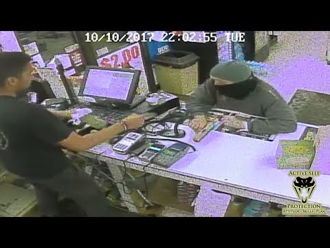 Robber Loses Pistol to Alert Clerk | Active Self Protection