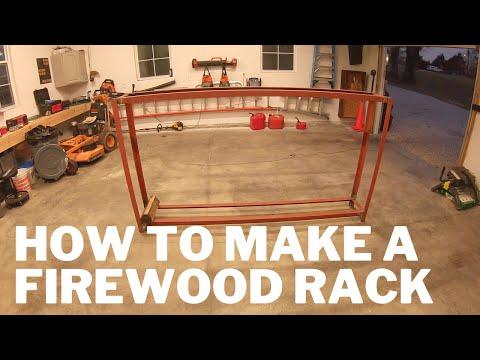 Building a Firewood Rack - Fire Wood Storage