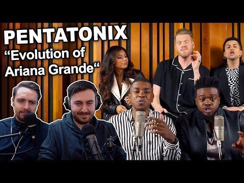 "Singers Reaction/Review To ""Pentatonix - Evolution Of Ariana Grande"""