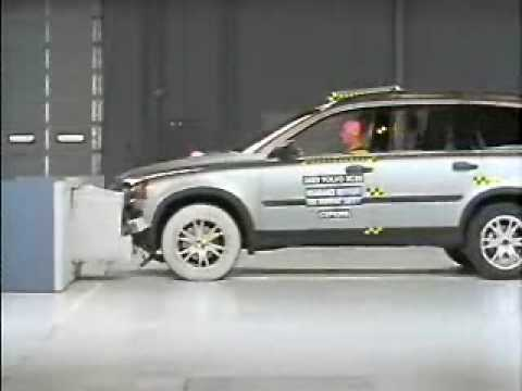 Crash Test 2003  2009 Volvo XC90 Frontal Offset IIHS  YouTube