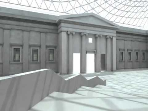 British Museum interior CGI animation