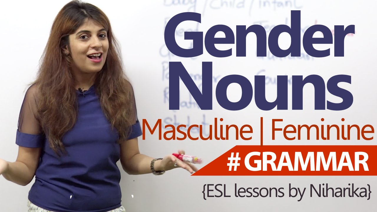 English Grammar lesson - Gender Nouns ( Learn Fluent English) - YouTube [ 720 x 1280 Pixel ]