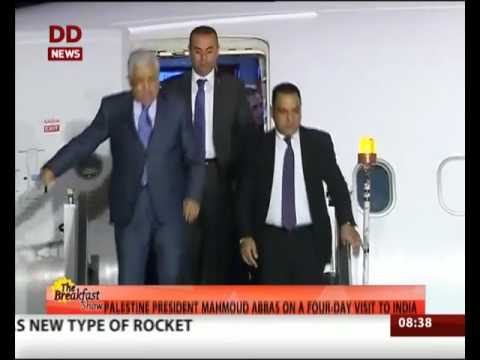 Palestine President Mahmoud Abbas on a four day visit to India