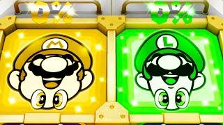 Super Mario Party MiniGames - Mario Vs Luigi Vs Dry Bones Vs Waluigi (Master Cpu)