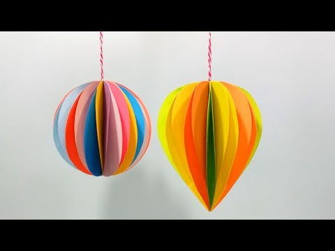How to Make 3D Paper Ornaments for Christmas decorations | Holiday Decorations | DIY Winter Decor