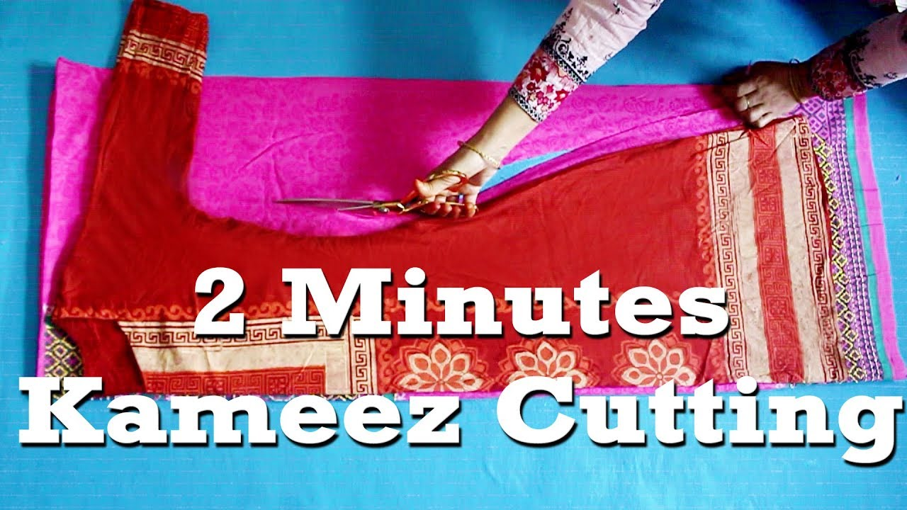 Repeat Easy Kameez Cutting Tutorial in 2 minutes by Tailor