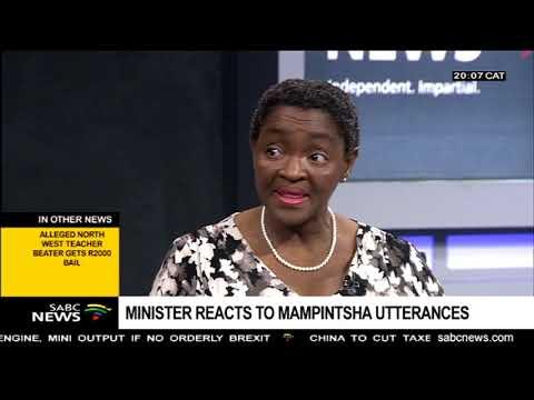Bathabile Dlamini on Mampintsha and the National Sanitary Dignity Programme