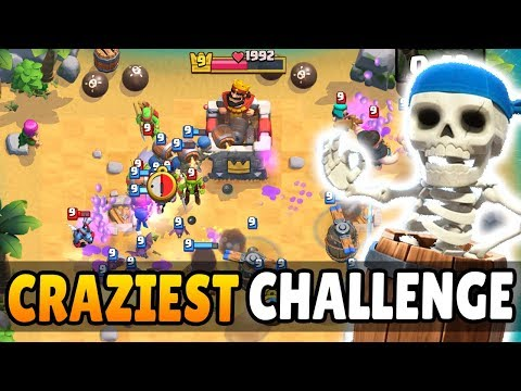 CRAZIEST CLASH ROYALE CHALLENGE EVER! | Wall Breaker Island Dash