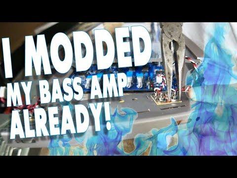 AMPLIFIED - I'm modding my NEW BASS AMPLIFIER ALREADY!!