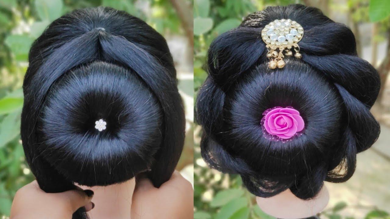 Easy Amazing Bun Hairstyle For Wedding || Bridal Hairstyle || Ladies Hairstyle || Juda Hairstyle ...