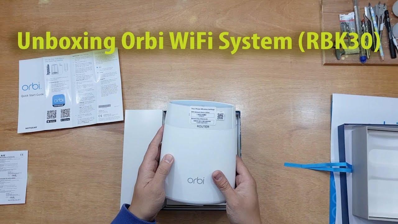 Netgear RBK30 home wifi system unboxing uk