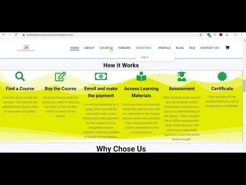 How to buy a course on Anziano Consultants Online Learning Portal