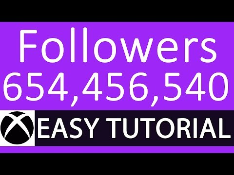 How to Get LOTS of Followers on Xbox One - EASY (Tutorial):: - YouTube