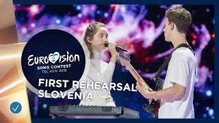 Slovenia 🇸🇮 - Zala Kralj & Gašper Šantl - Sebi - First Rehearsal - Eurovision 2019