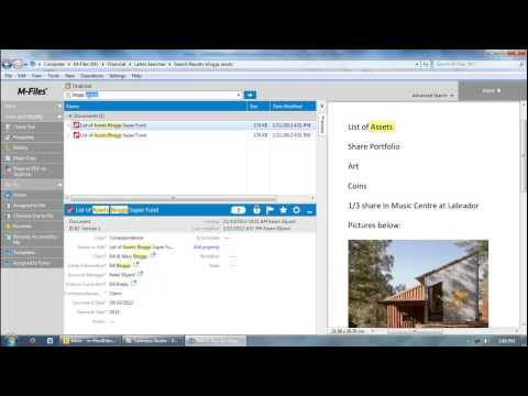 M-Files document management software for Financial introduction video