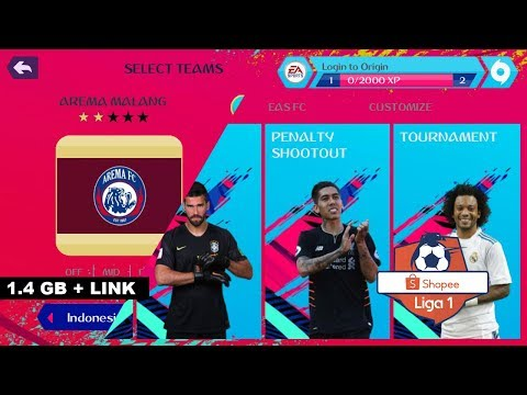 Game Android Offline FIFA 19 3D Patch + Liga 1 Indonesia (FIFA14) Update Ke2 Link + Cara Install - 동영상