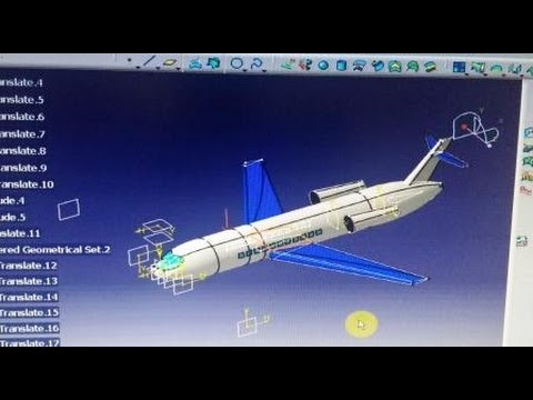 catia v5   Aircraft surface design   must watch