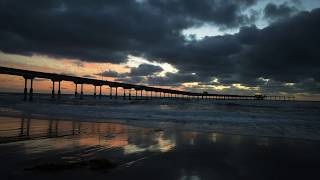 8 Hours of Ocean Waves Sounds on the Beach in San Diego, CA - Sounds For Sleep