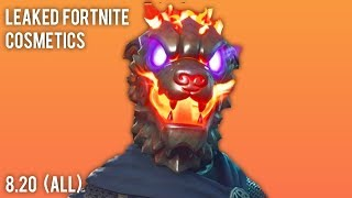 All LEAKED SKINS (Cosmetics) in Fortnite v8.20