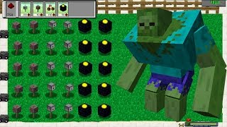 Plants Vs Zombies Mod Minecraft - TEAM PLANTS FIGHT!