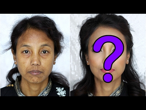 Indian Housemaid gets a Makeover ! Power of Makeup