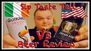 Guinness Vs Sam Adams Cream Stout Beer Review Sip Taste Tell S1 E7