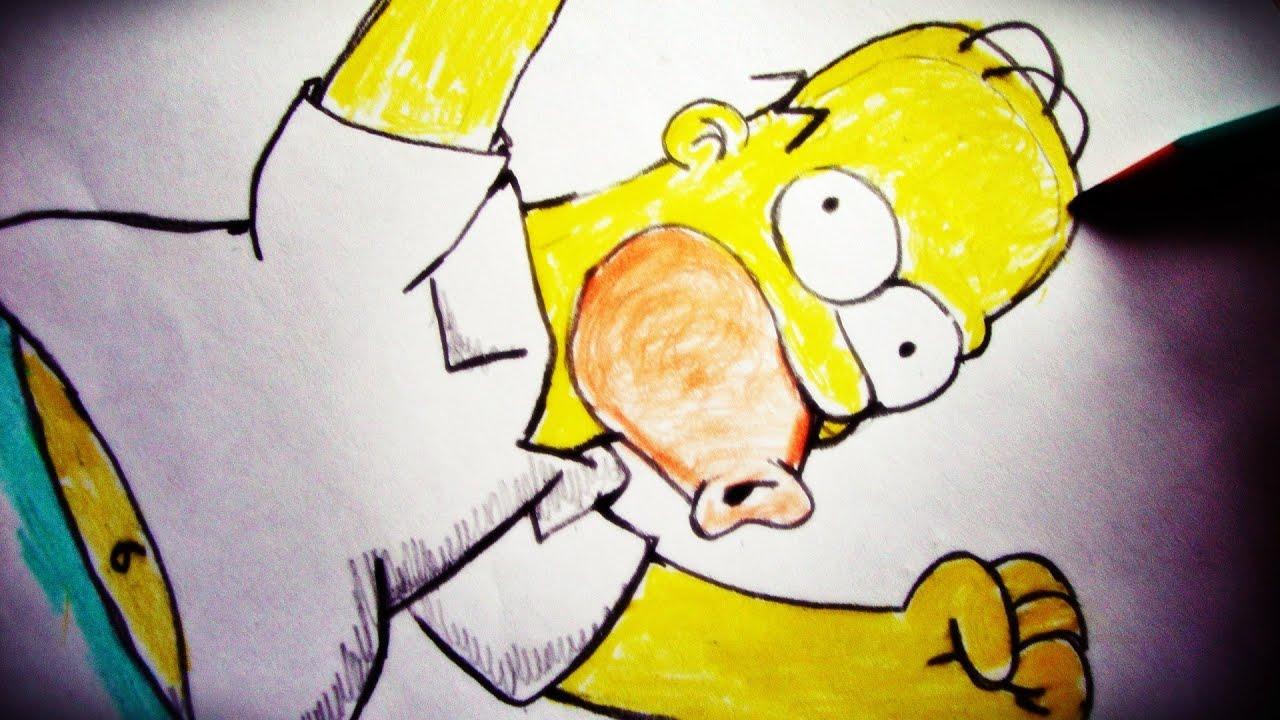 como desenhar o homer the simpsons how to draw homer slay