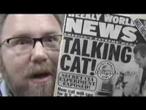 Talking Cat FUNNY Weekly World News Review Mike Mozart