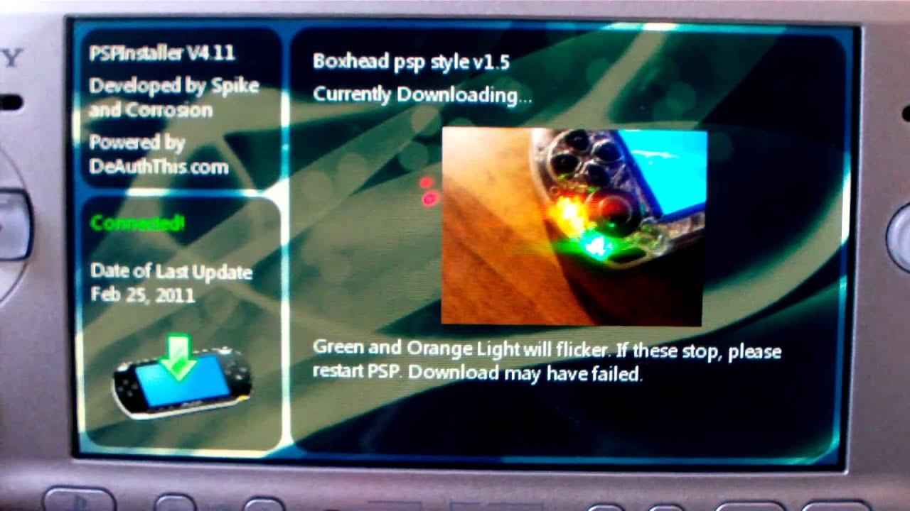 [ PSP 3000 ] Application PSP Installer v 4 11 on 5 03 gen-c cfw kexploit
