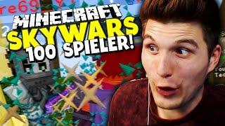 100 SPIELER AUF EINER MAP! ✪ Minecraft MEGA Skywars