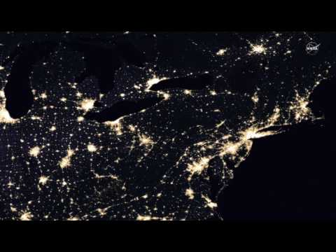 Lights of Human Activity Shine in NASA's Image of Earth at Night