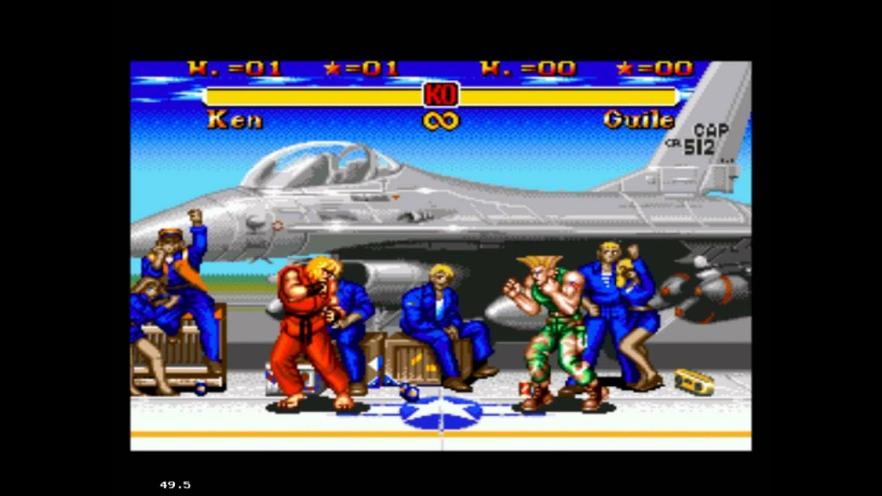 Super Street Fighter Ii Sega Mega Drive Guile S Stage Theme