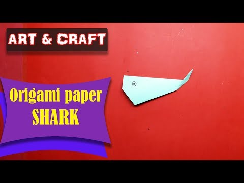 DIY  How to make an origami paper Shark || Art & Craft || Open Mind 🎊